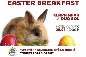 Easter breakfast 2016. in front of 'Hotel Adriatic' - everyone is invited!