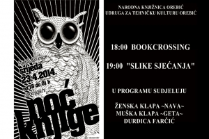 Book crossing and photography exhibition at Orebić public library on Wednesday